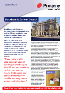 Council building security - Blackburn with Darwen
