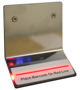 Position Target for Barcode Reader