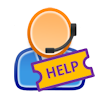 Help Desk Ticket Logo